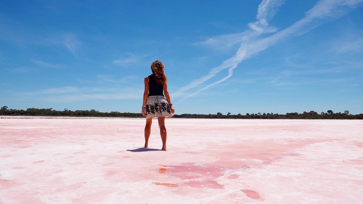 Lago Rosa a Dimboola in Australia