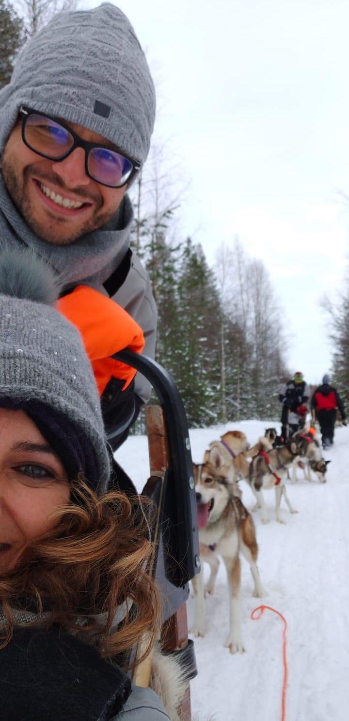Cosa fare nella Lapponia Finlandese - La gita in slitta con gli husky